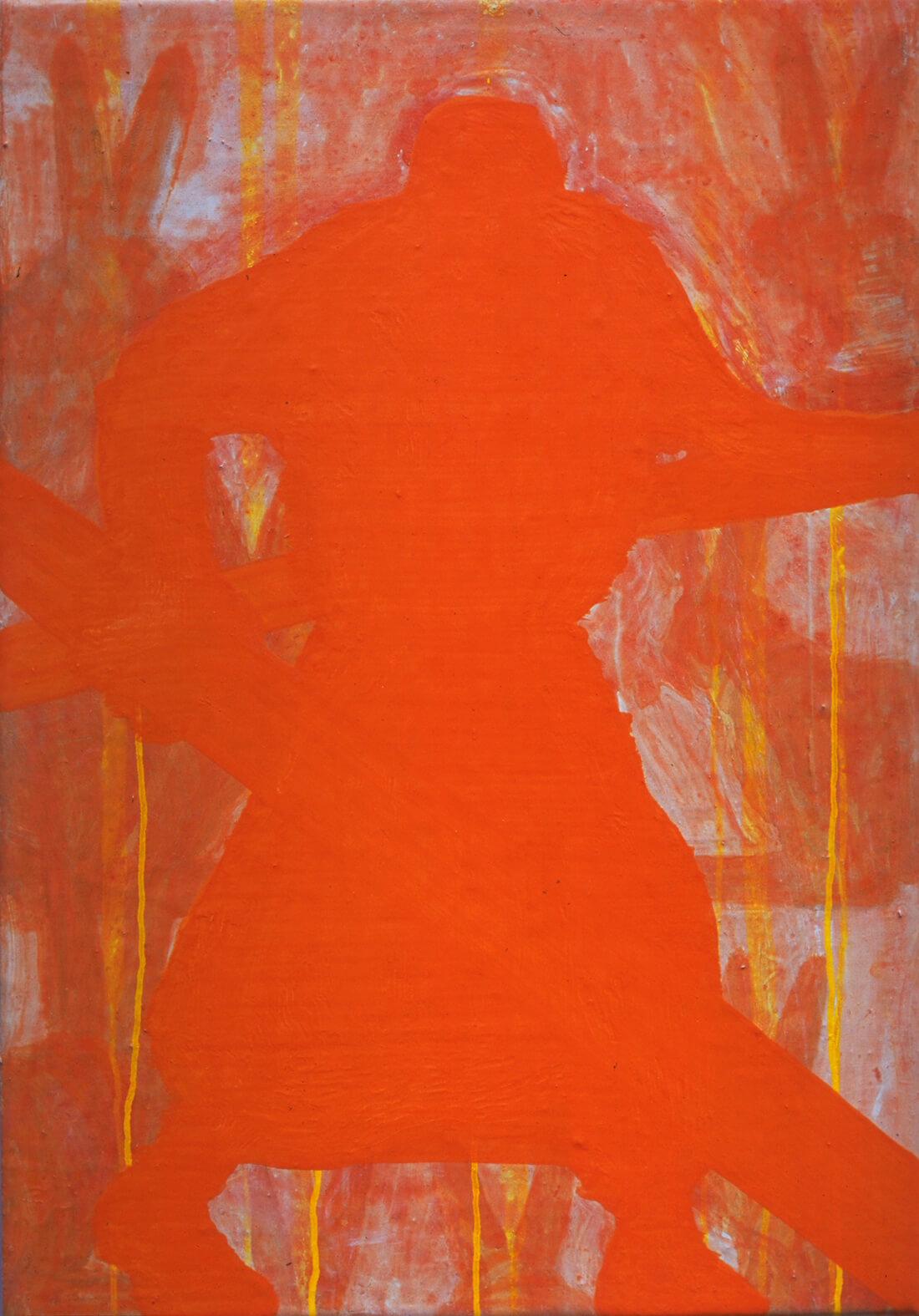 untitled (Jesus de conejos), 55 x 39 cm, egg tempera on canvas, 2000