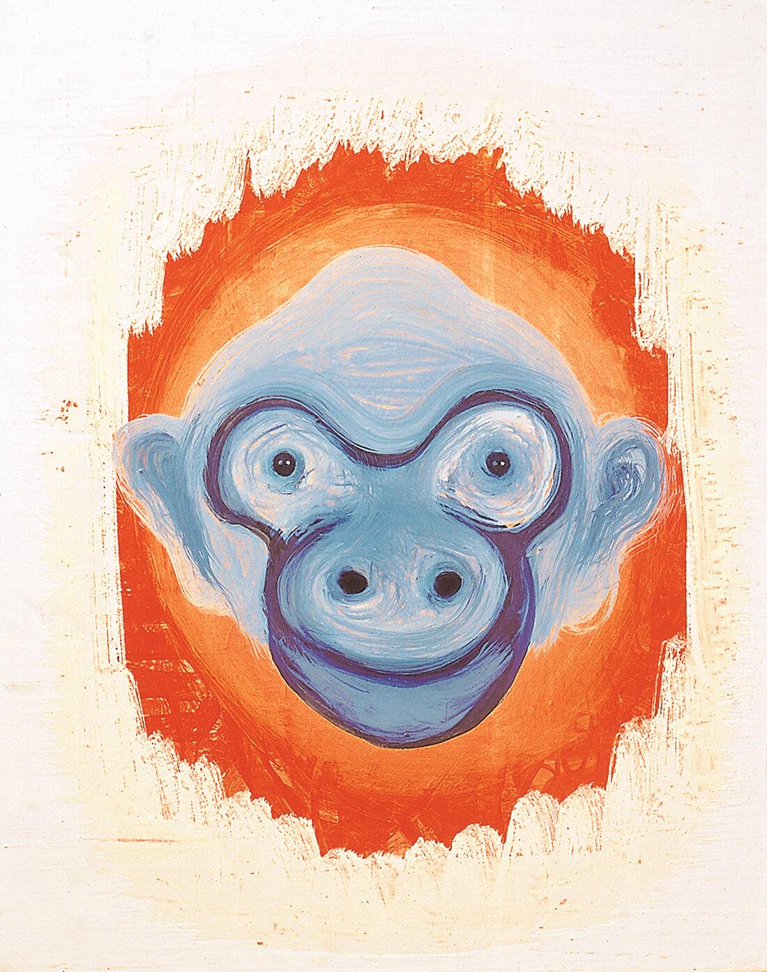 Cómo estás?, 77 x 55 cm, egg tempera on canvas, 2002