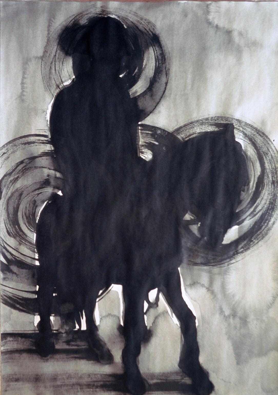 untitled (vaquero), 69,5 x 50 cm, ink on paper, 2004