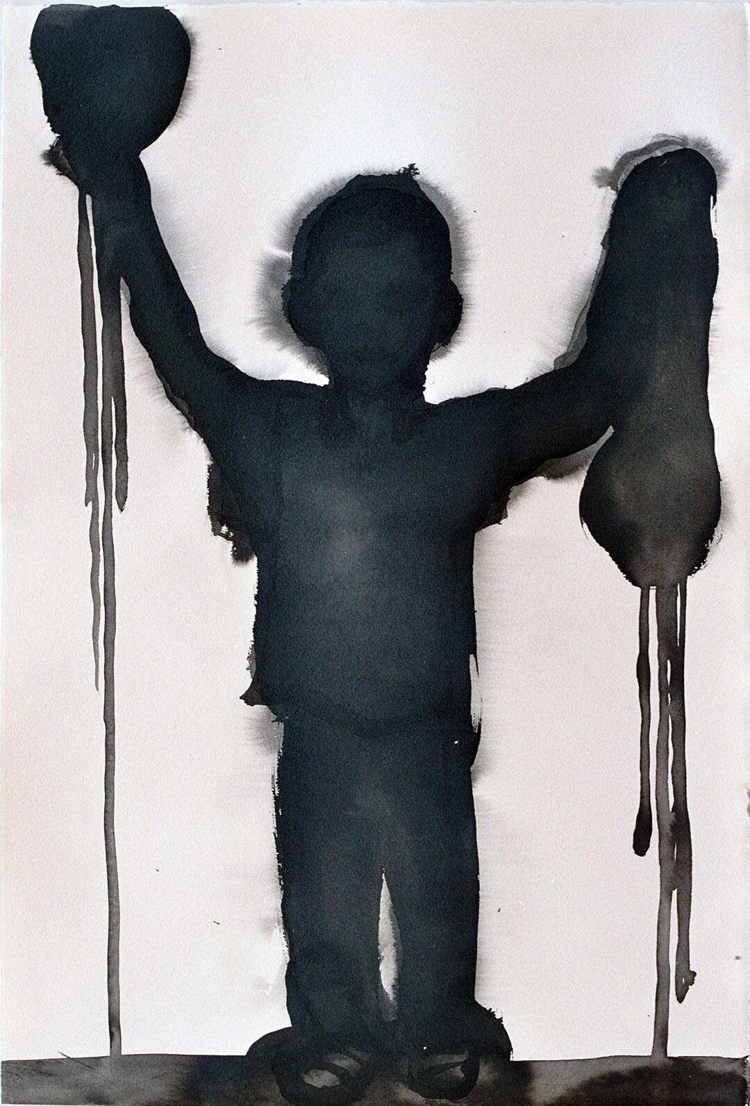 untitled (Goya2), 55,5 x 38 cm, ink on paper, 2005
