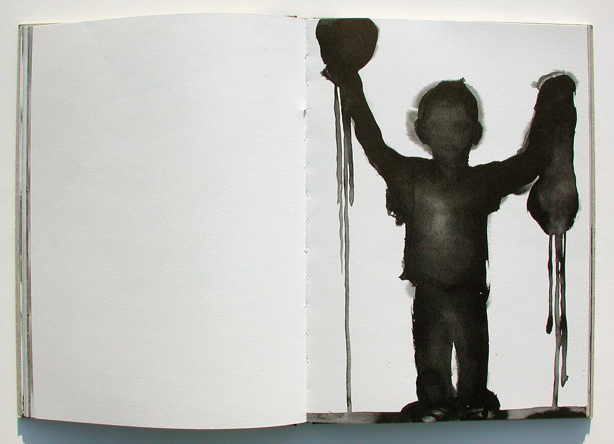 Libro de fantasmas/Book of ghosts, page 42+43 of 100 pages, 29.7x43cm, 2006