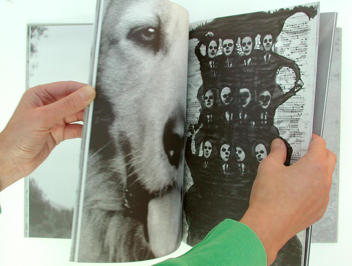 Libro de fantasmas/Book of ghosts, page 54+55 of 100 pages, 29.7x43cm, 2006