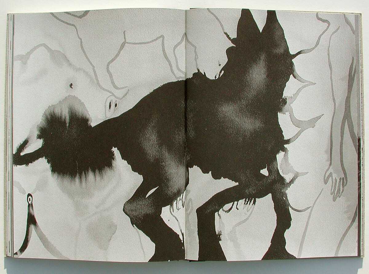 Libro de fantasmas/Book of ghosts, page 80+81 of 100 pages, 29.7x43cm, 2006