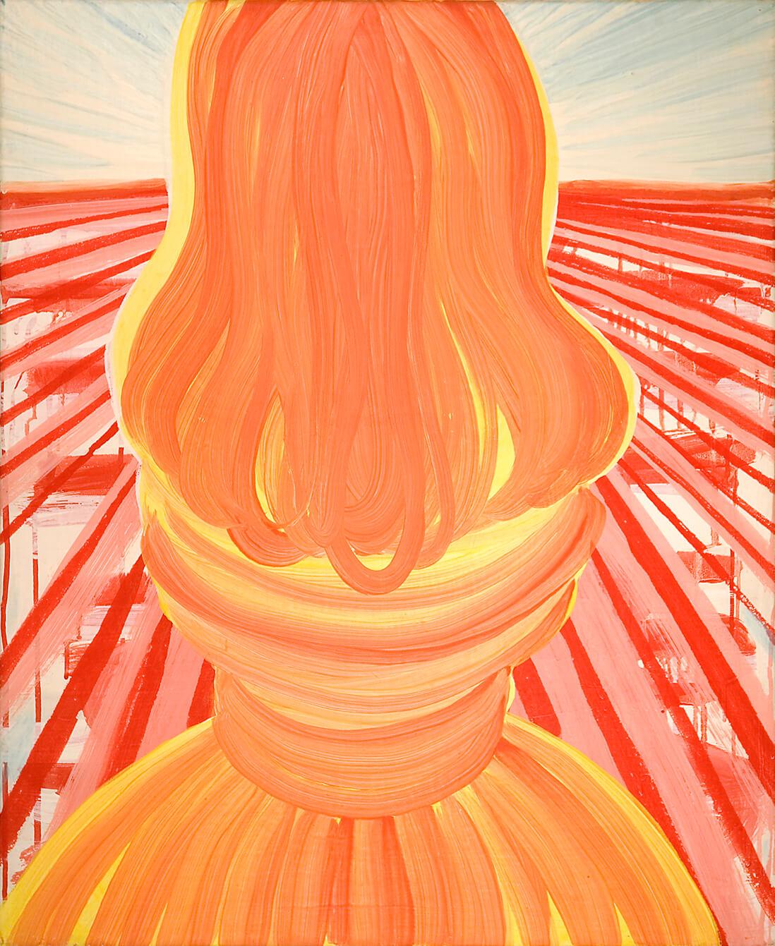 untitled (salt pillar), 73 x 60 cm, egg tempera on canvas, 2006