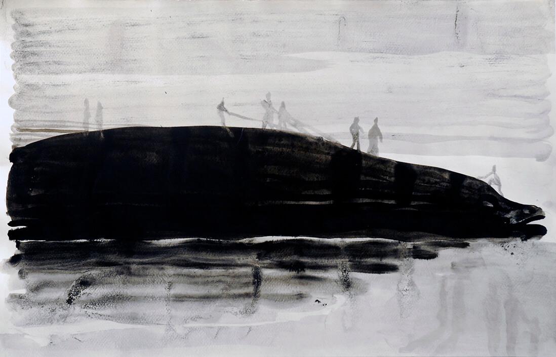 Gulliver's fish, 35 x 50 cm, ink on paper, 2008