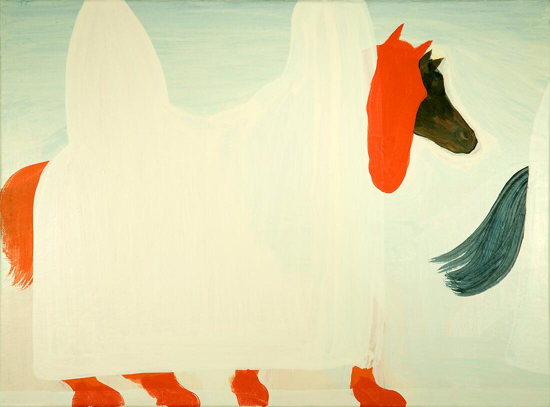 untitled (Procession, 60 x 80 cm, egg tempera on canvas, 2008