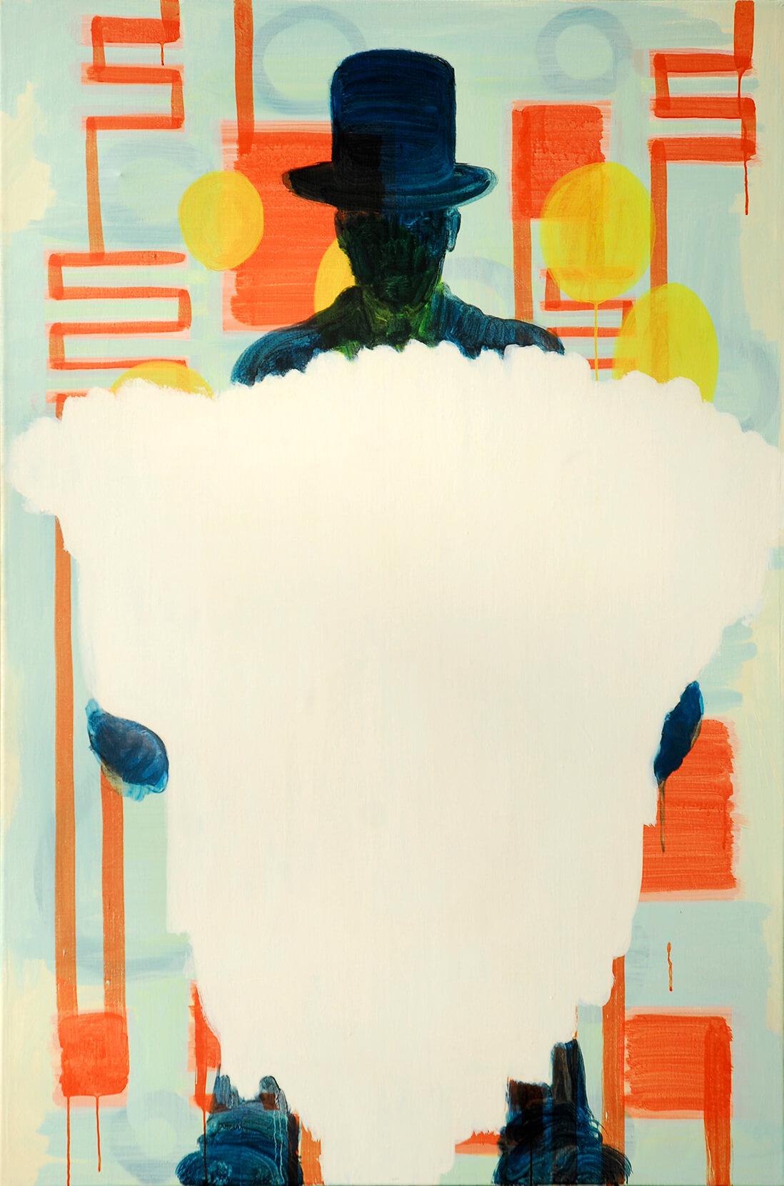 untitled (mago con nada), 150 x 100 cm, egg tempera on canvas, 2008