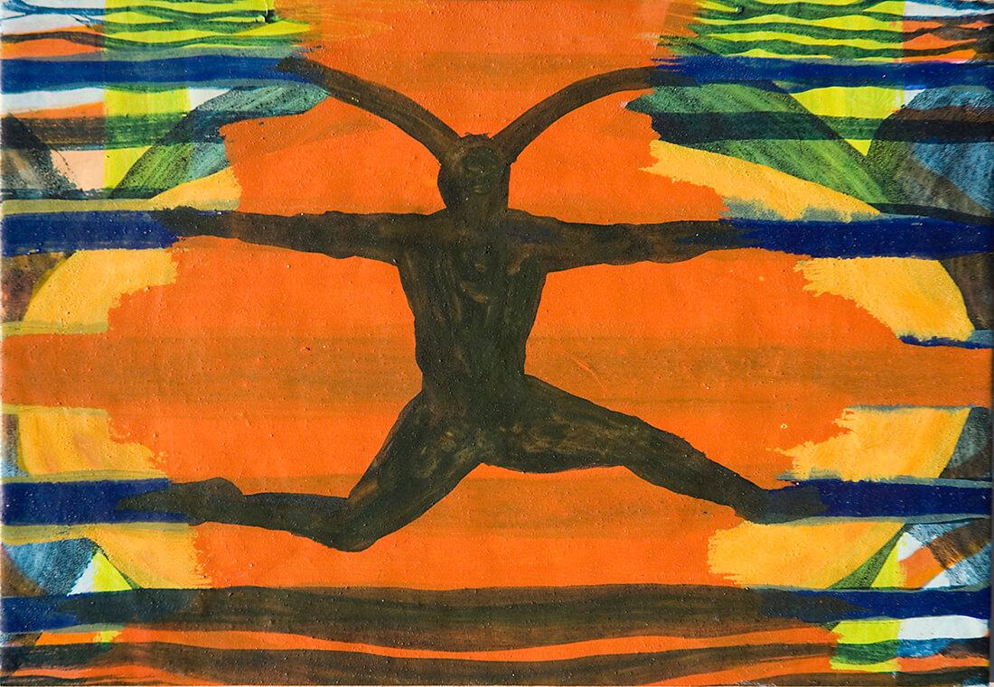 untitled (forest spirit), 16 x 23 cm, egg tempera on paper, 2008