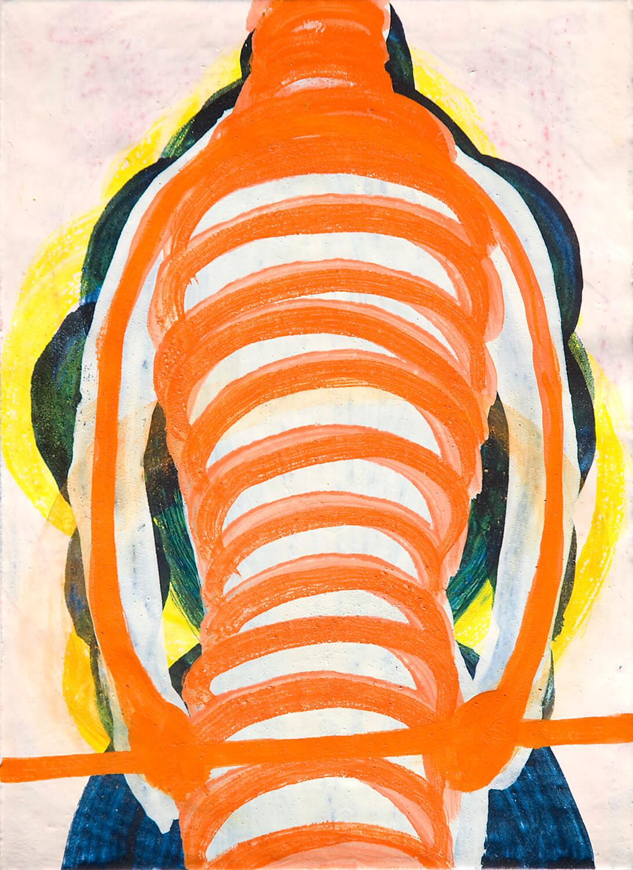 untitled (equilibrist), 30 x 22 cm, egg tempera on paper, 2008