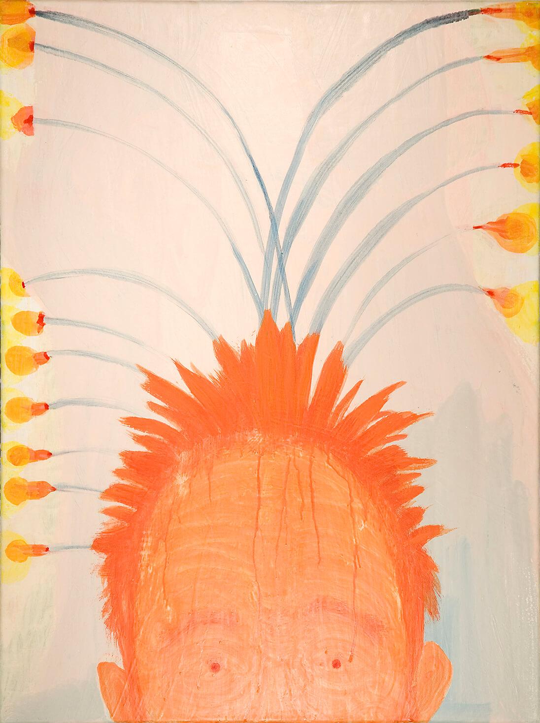 untitled (StanLaurel), 80 x 60 cm, egg tempera on canvas, 2009