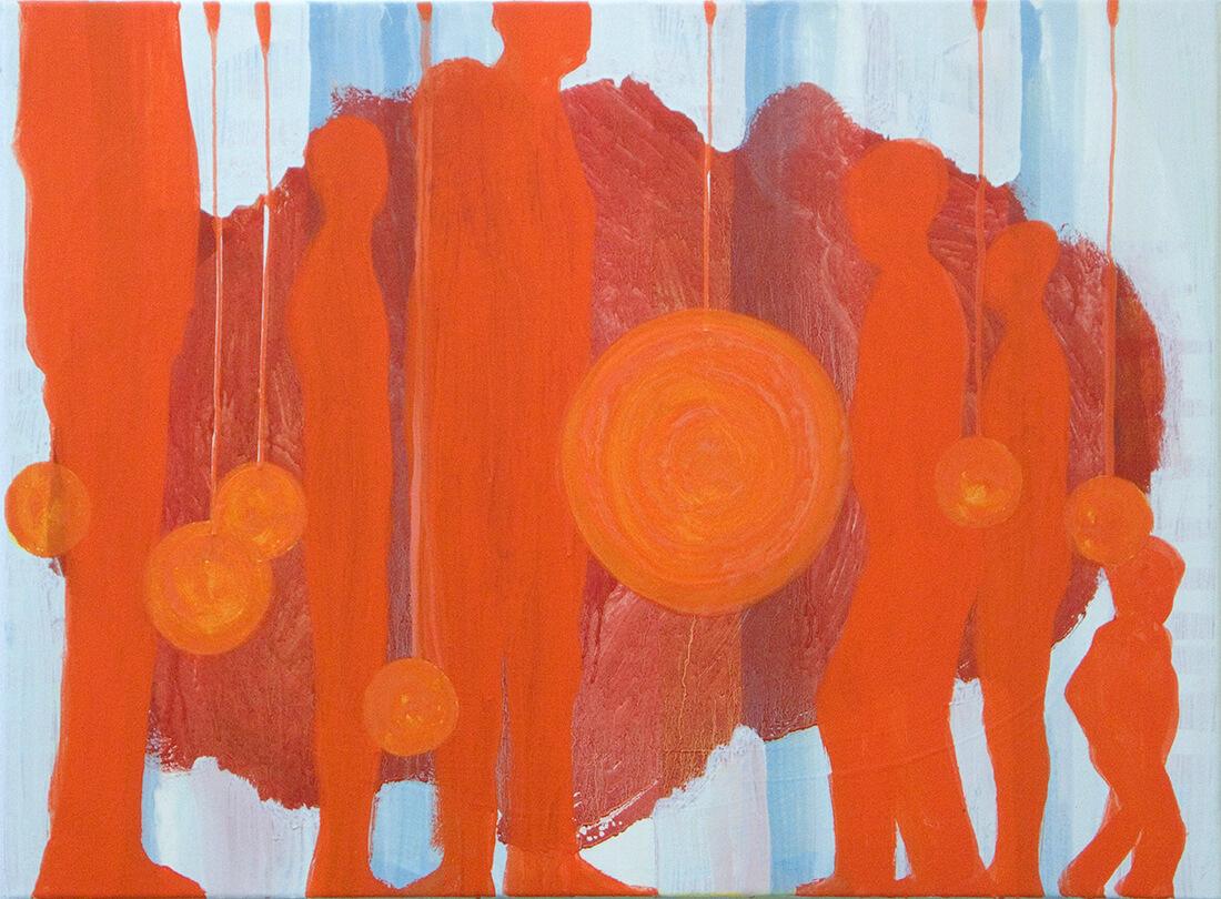 untitled (sun clock), 60 x 82 cm, egg tempera on canvas, 2009