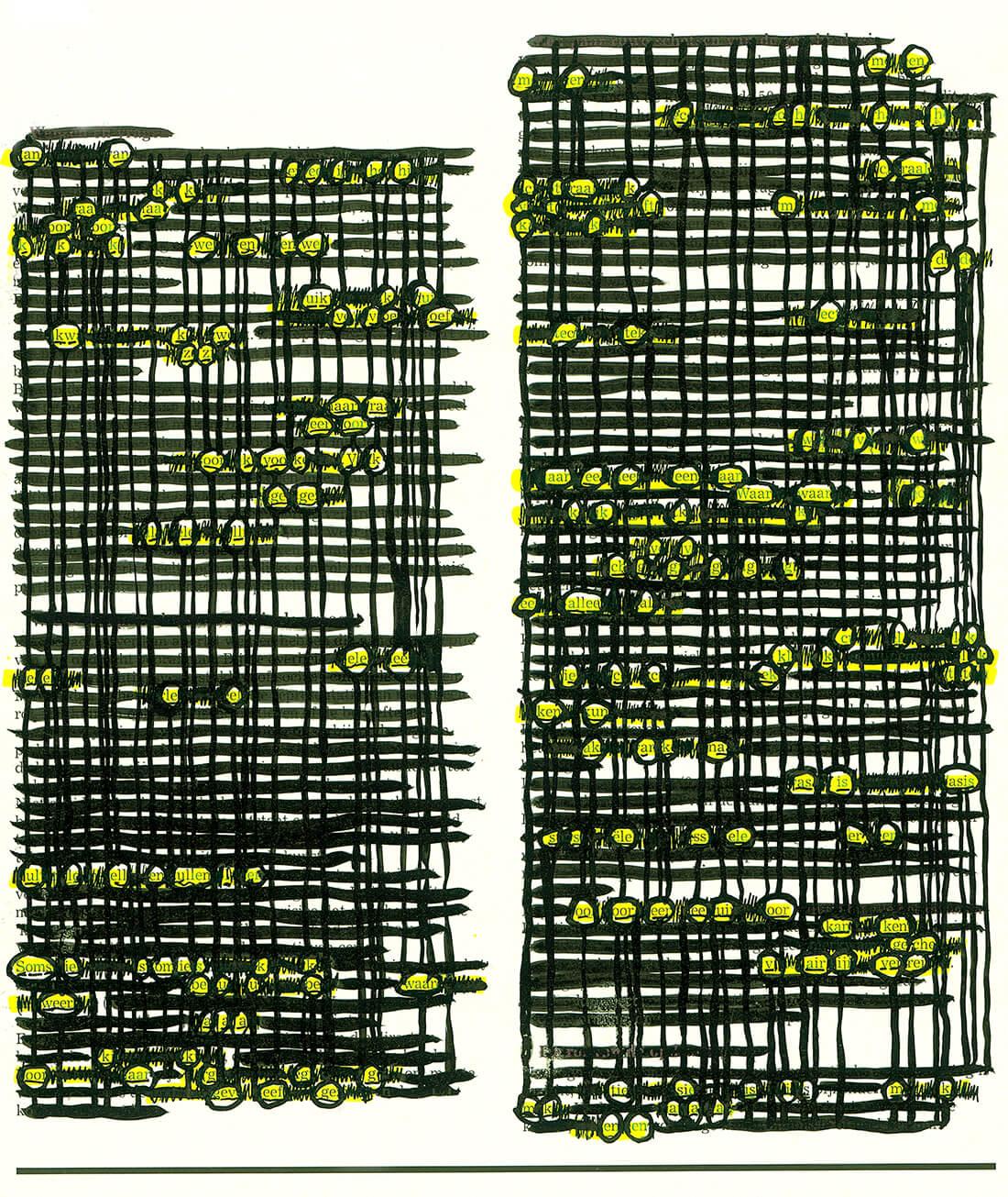 OMIL Ensemble, Zeebelt, An-An, projection, original 28.5 x 21.5 cm, 2011