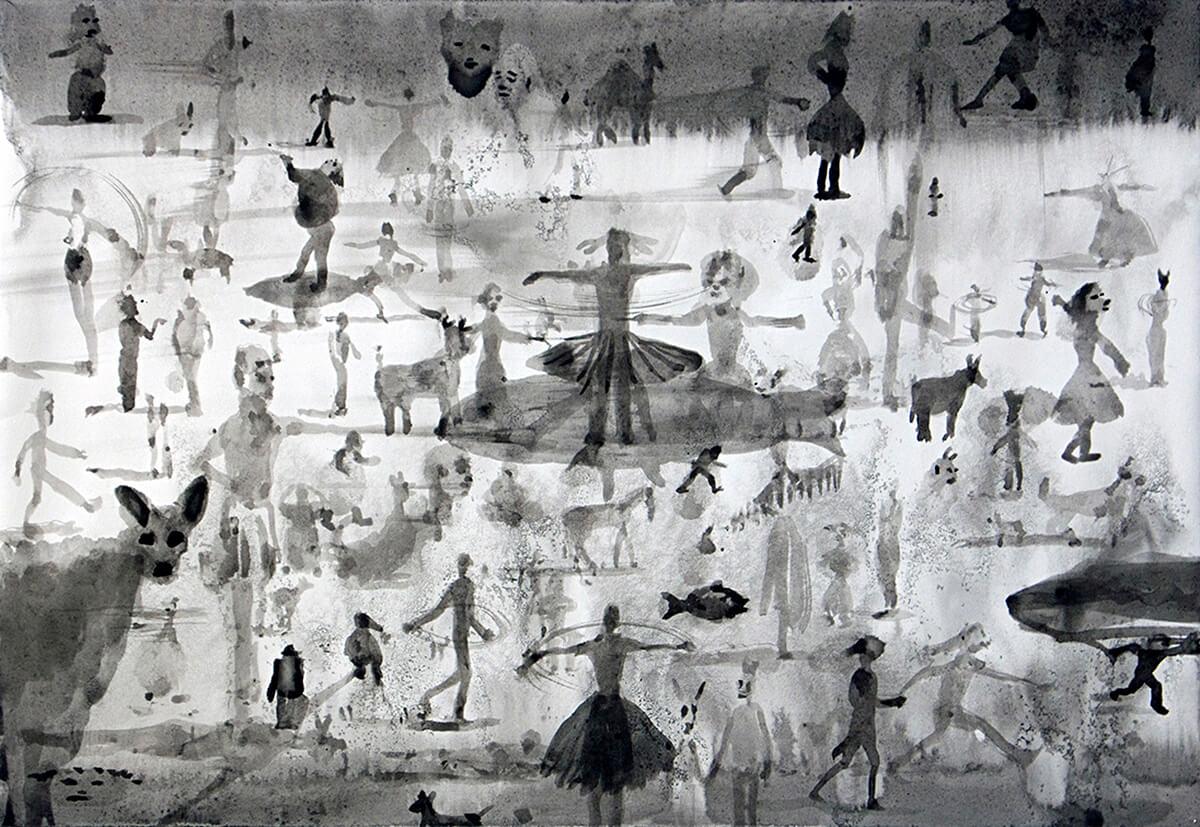 untitled (garden), 35 x 50 cm, ink on paper, 2011