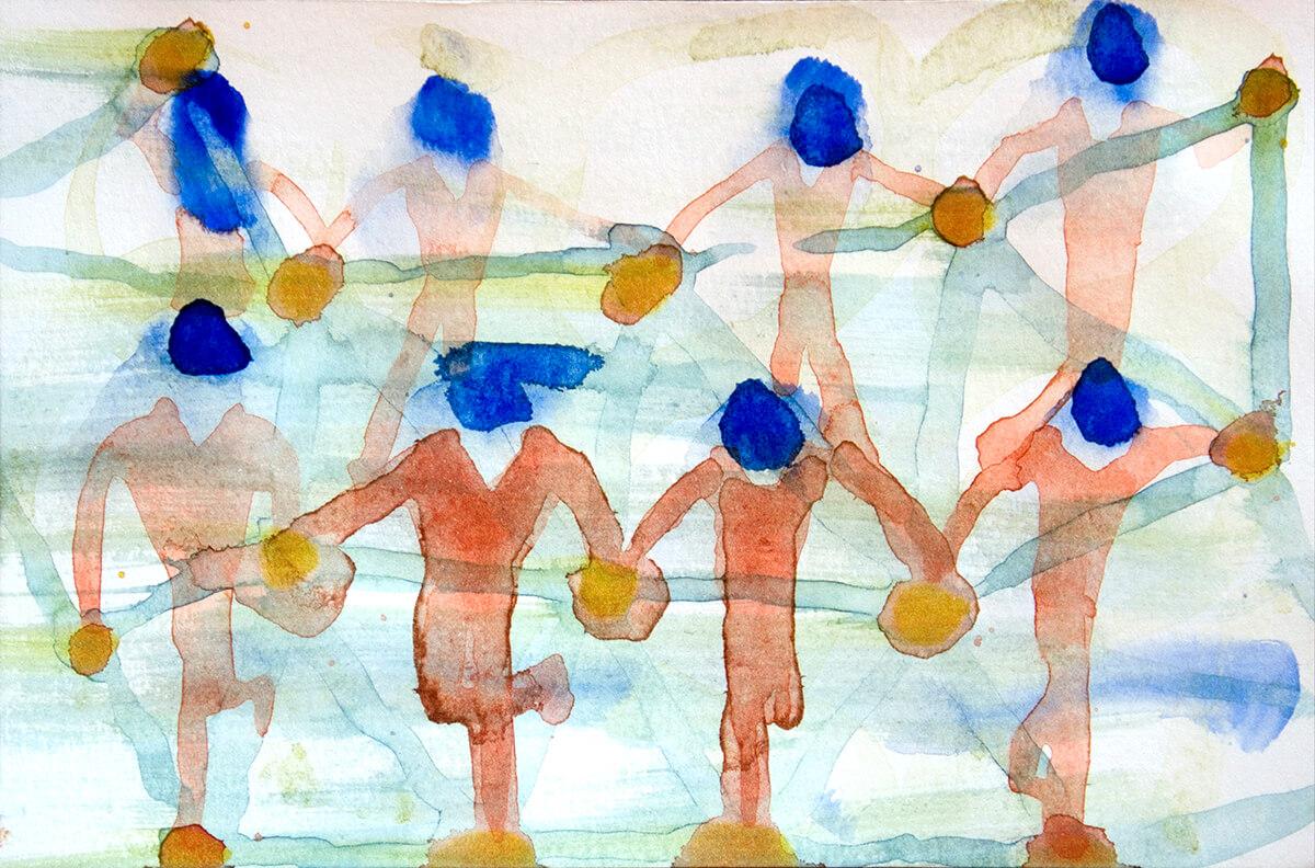 untitled (dancers), 9,2 x 14 cm, watercolor, 2013