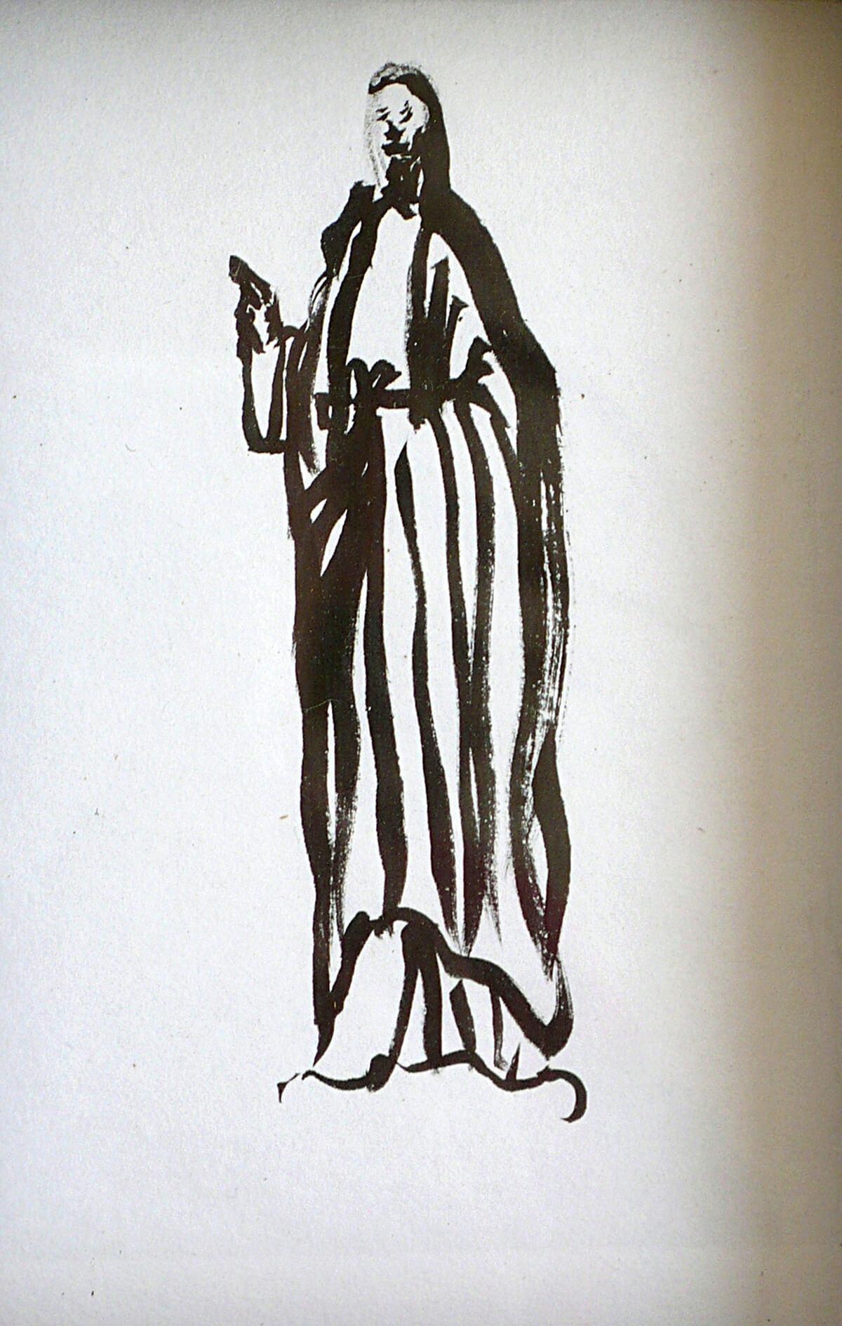 untitled (saint), 16 x 11 cm, ink on paper, 2014