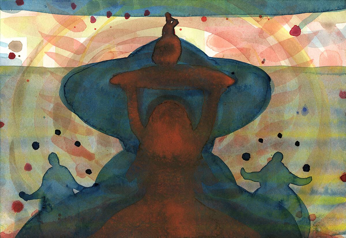 untitled (juggling ritual), 18 x 26 cm, watercolor, 2016