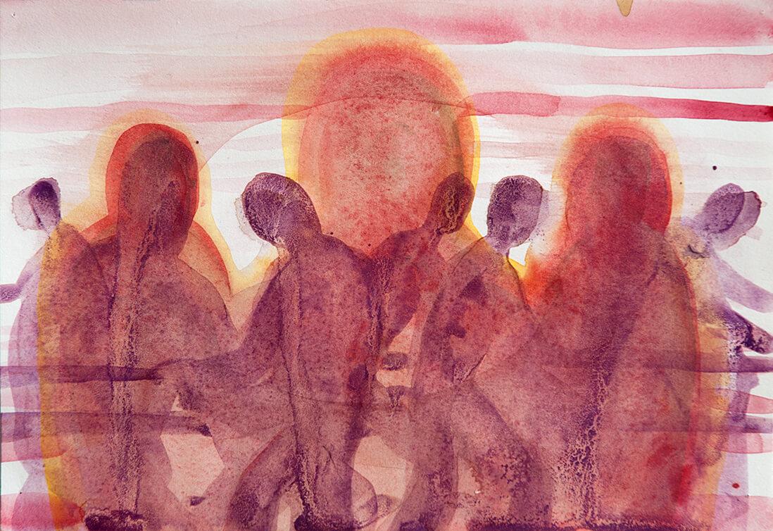 untitled (purple plowers), 18 x 26 cm, watercolor, 2016