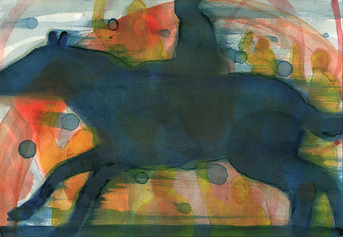 untitled (riot rider), 18 x 26 cm, watercolor, 2016