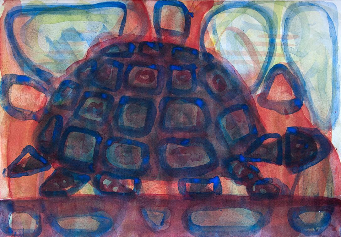 untitled (tortoise), 42 x 29 cm, watercolor, 2017