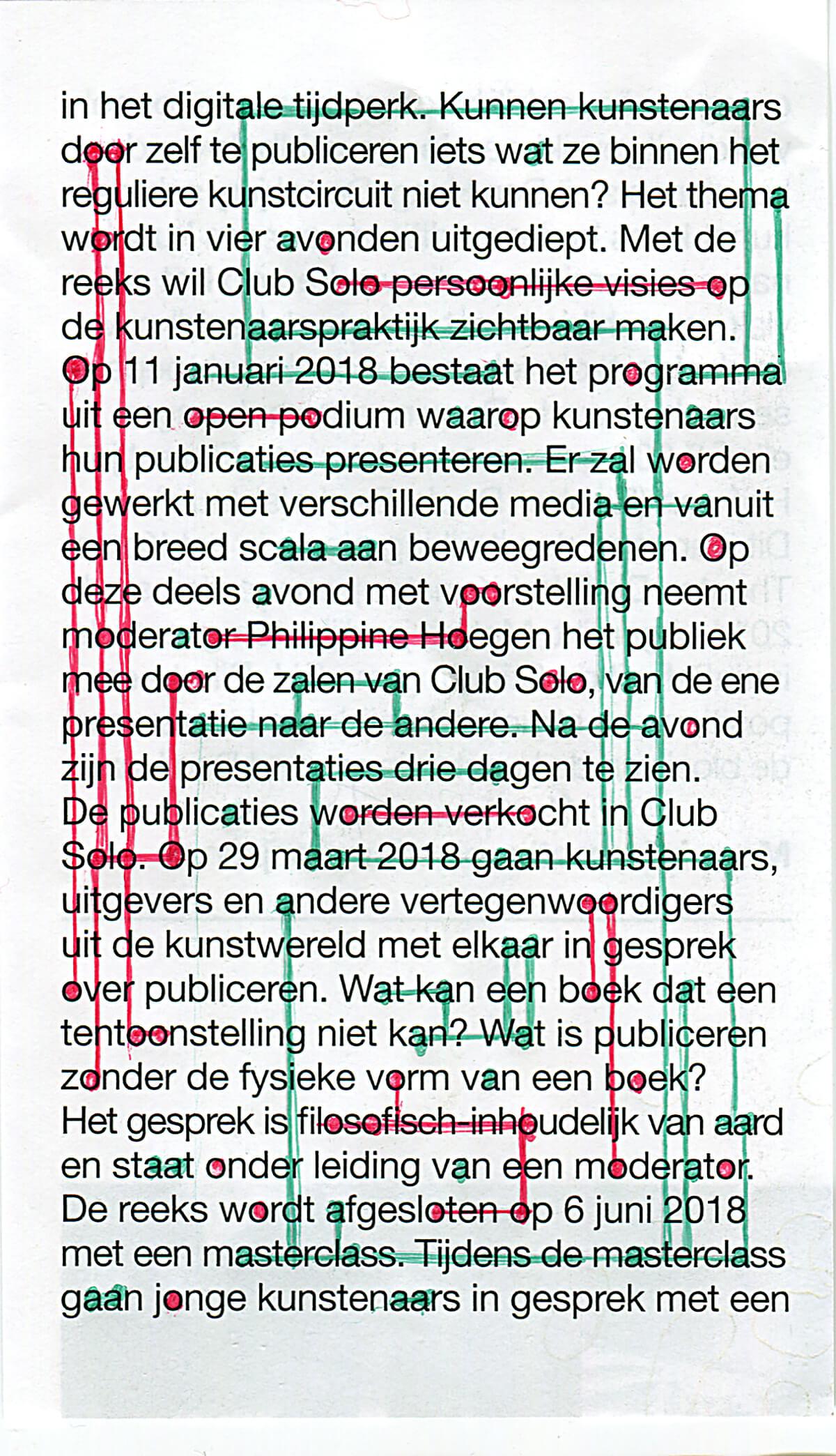 In het digitale tijdperk, 12.5 x 7.7 cm, ink on newspaper, 2017