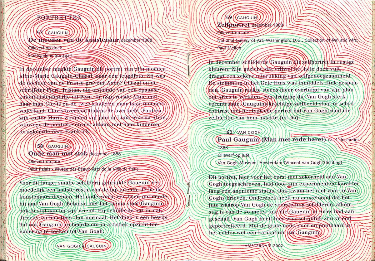 Van Gogh&Gauguin: Encircle, Dutch version, version, text nr. 57-60, 93 pages, open 15 x 21 cm, ink on booklet, 2002